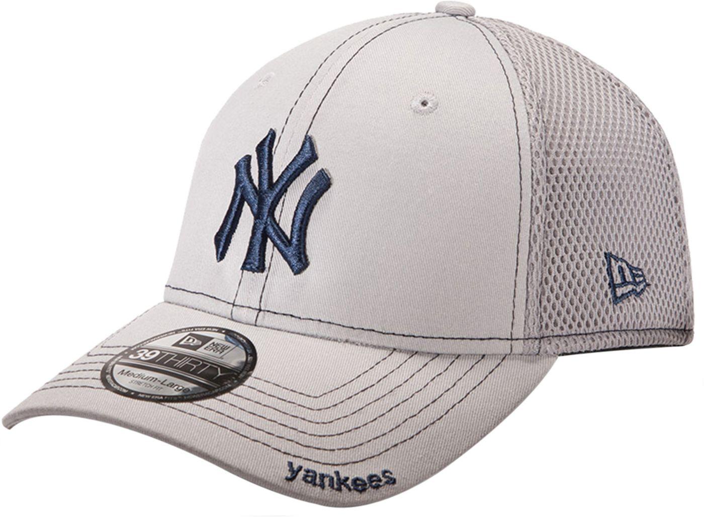 New Era Men's New York Yankees 39Thirty Neo Grey Stretch Fit Hat