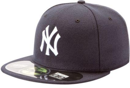 New Era Men s New York Yankees 59Fifty Game Navy Authentic Hat ... cbf116db49e1
