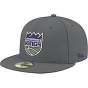 New Era Men's Sacramento Kings 59Fifty Grey Fitted Hat