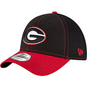 New Era Men's Georgia Bulldogs Black/Red Team Front Neo 39Thirty Stretch Fit Hat