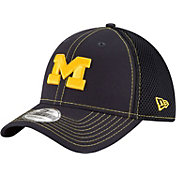 New Era Men's Michigan Wolverines Blue Team Front Neo 39Thirty Stretch Fit Hat
