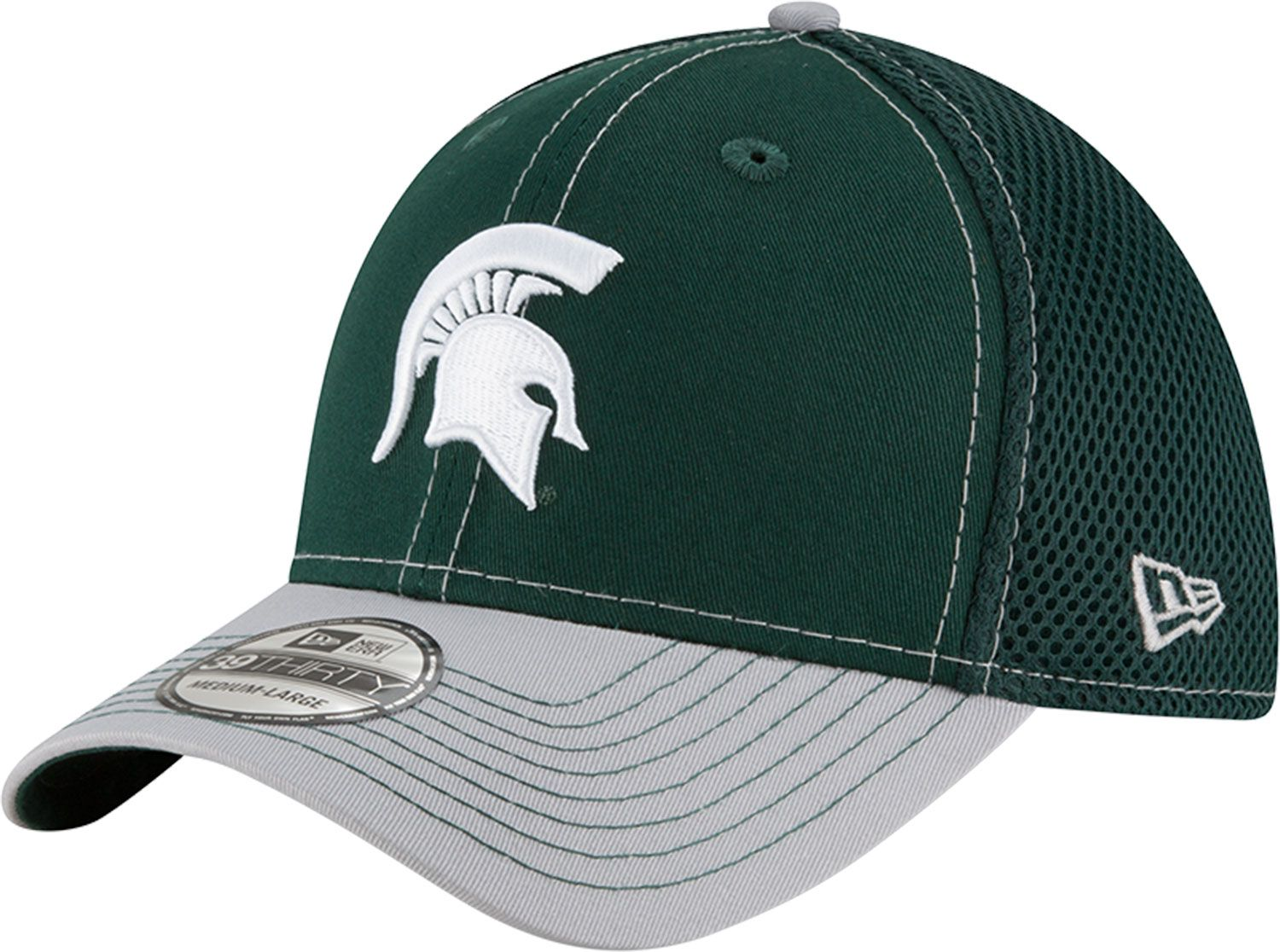 best sneakers 676f6 3d111 reduced new era mens michigan state spartans green grey team front neo  39thirty stretch fit hat