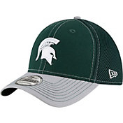 New Era Men's Michigan State Spartans Green/Grey Team Front Neo 39Thirty Stretch Fit Hat