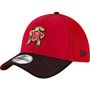 New Era Men's Maryland Terrapins Team Front Red/Black Neo 39Thirty Stretch Fit Hat