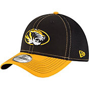 New Era Men's Missouri Tigers Black/Gold Team Front Neo 39Thirty Stretch Fit Hat
