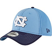 New Era Men's North Carolina Tar Heels Carolina Blue/Navy Team Front Neo 39Thirty Stretch Fit Hat