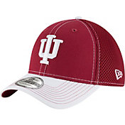 New Era Men's Indiana Hoosiers Crimson/Cream Team Front Neo 39Thirty Stretch Fit Hat