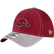 New Era Men's Arkansas Razorbacks Cardinal/Grey Team Front Neo 39Thirty Stretch Fit Hat