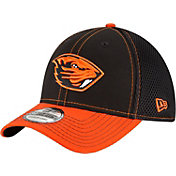 New Era Men's Oregon State Beavers Black/Orange Team Front Neo 39Thirty Stretch Fit Hat