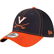 New Era Men's Virginia Cavaliers Blue/Orange Team Front Neo 39Thirty Stretch Fit Hat