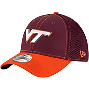 New Era Men's Virginia Tech Hokies Maroon/Burnt Orange Team Front Neo 39Thirty Stretch Fit Hat
