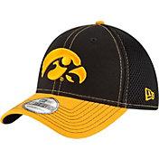 New Era Men's Iowa Hawkeyes Black/Gold Team Front Neo 39Thirty Stretch Fit Hat
