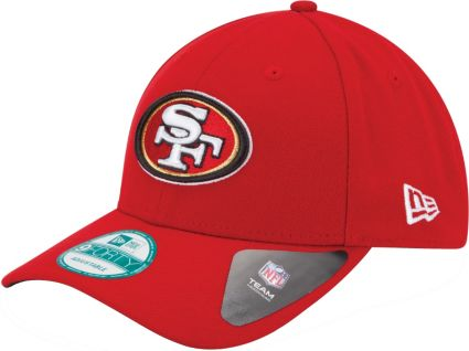 hot sale online 714eb b8780 New Era Men s San Francisco 49ers League 9Forty Adjustable Red Hat.  noImageFound