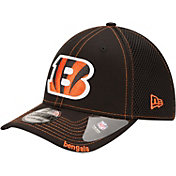 New Era Men's Cincinnati Bengals 39Thirty Neoflex Black Stretch Fit Hat