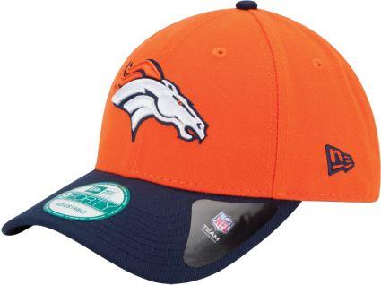 49ff0f48972541 New Era Men's Denver Broncos League 9Forty Adjustable Orange Hat ...