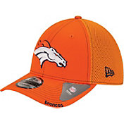 New Era Men's Denver Broncos 39Thirty Neo Orange Stretch Fit Hat