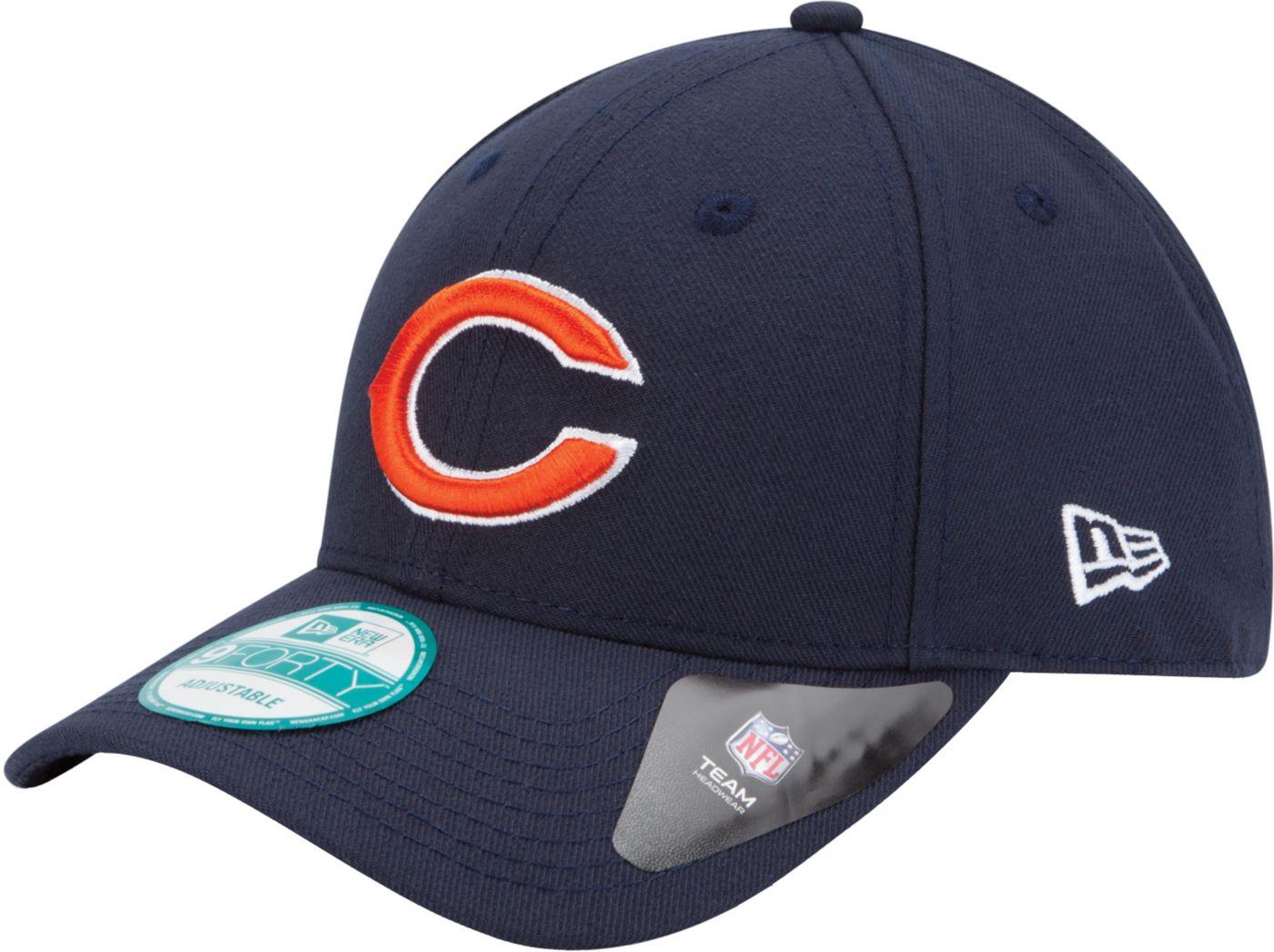 New Era Men's Chicago Bears League 9Forty Adjustable Navy Hat