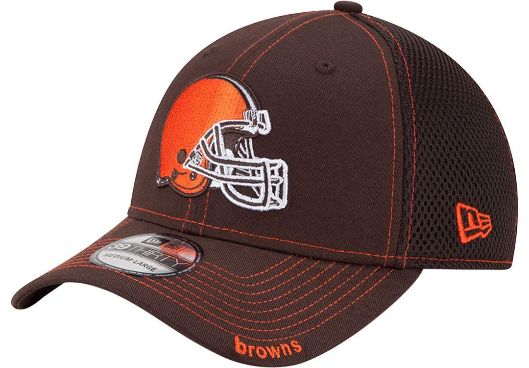 1b29cc7014ef2 New Era Men s Cleveland Browns 39Thirty Neo Brown Flex Hat 1