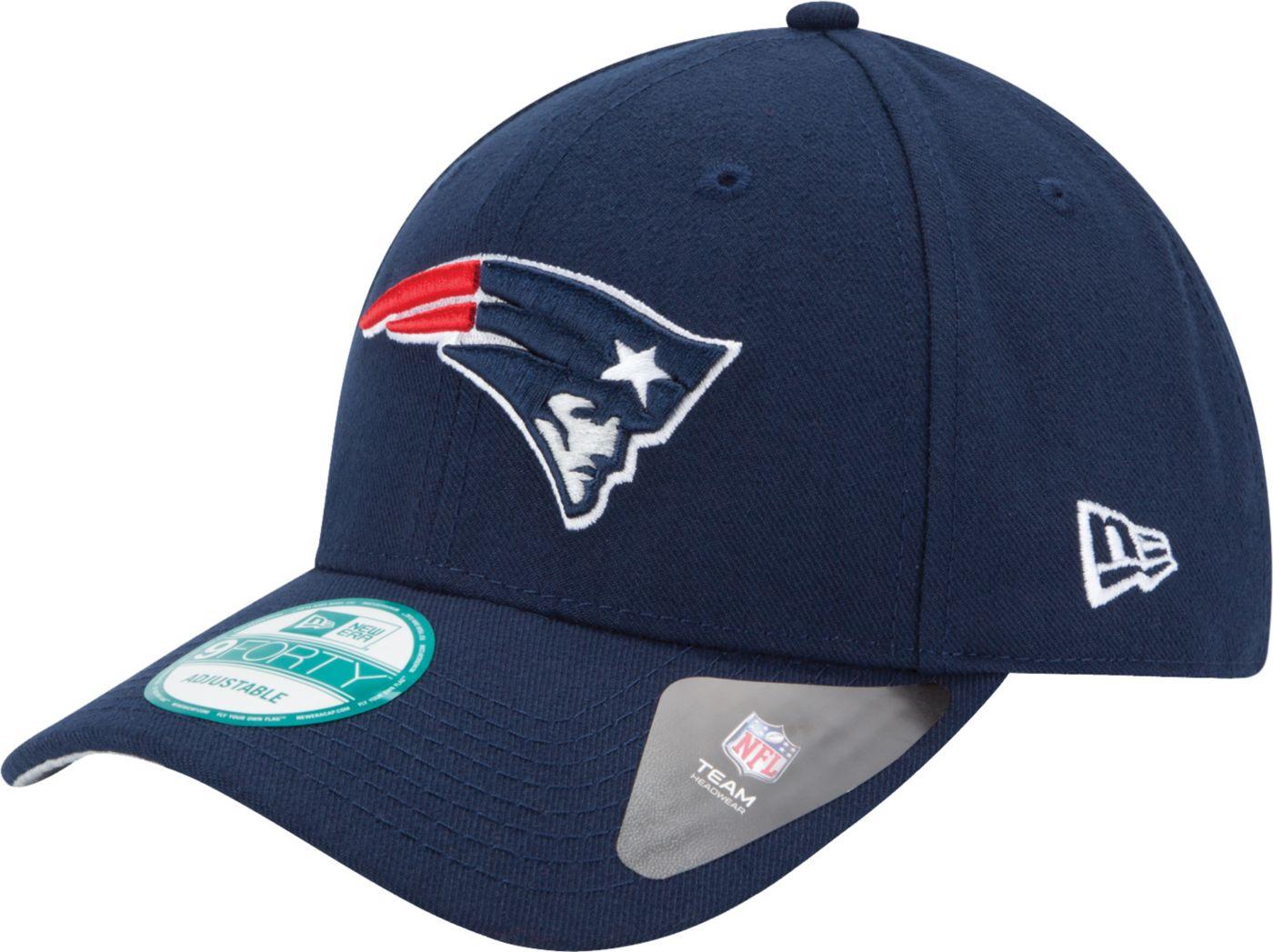 New Era Men's New England Patriots League 9Forty Adjustable Navy Hat