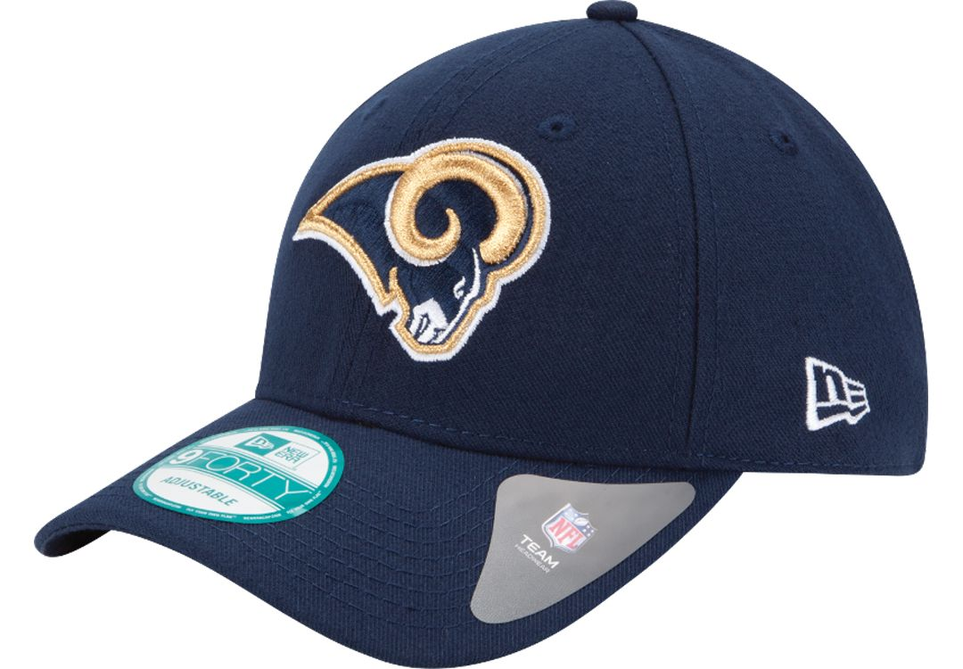 new arrival 45add d28dd New Era Men s Los Angeles Rams League 9Forty Navy Adjustable Hat 1