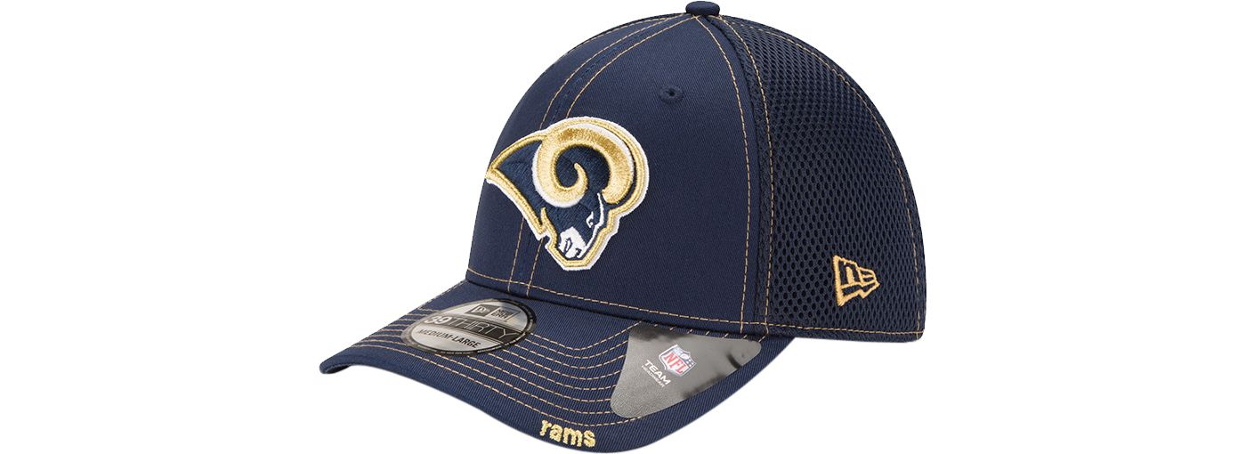 New Era Men's Los Angeles Rams 39Thirty Neoflex Navy Stretch Fit Hat