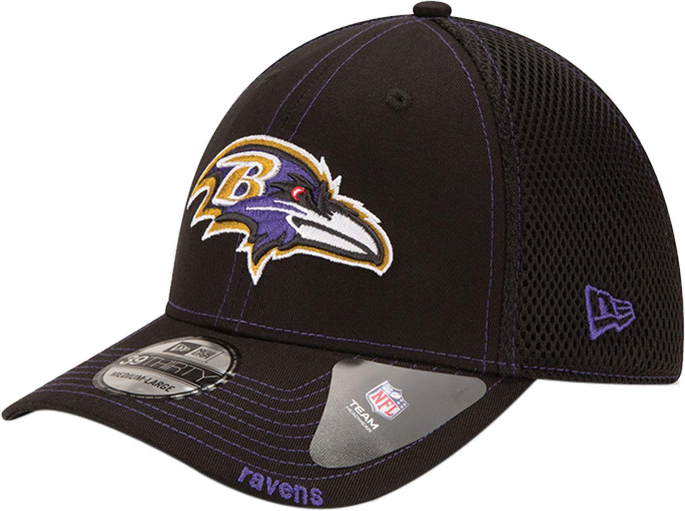 New Era Men's Baltimore Ravens 39Thirty Neoflex Black Stretch Fit Hat