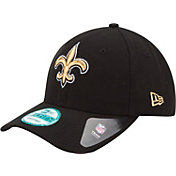 New Era Men's New Orleans Saints League 9Forty Adjustable Black Hat