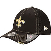 New Era Men's New Orleans Saints 39Thirty Neoflex Black Stretch Fit Hat
