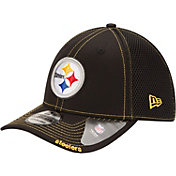 New Era Men's Pittsburgh Steelers 39Thirty Neoflex Black Stretch Fit Hat