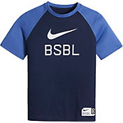 Nike Boys' Dry BSBL Swoosh Graphic T-Shirt