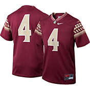 Nike Boys' Florida State Seminoles #4 Garnet Football Game Jersey