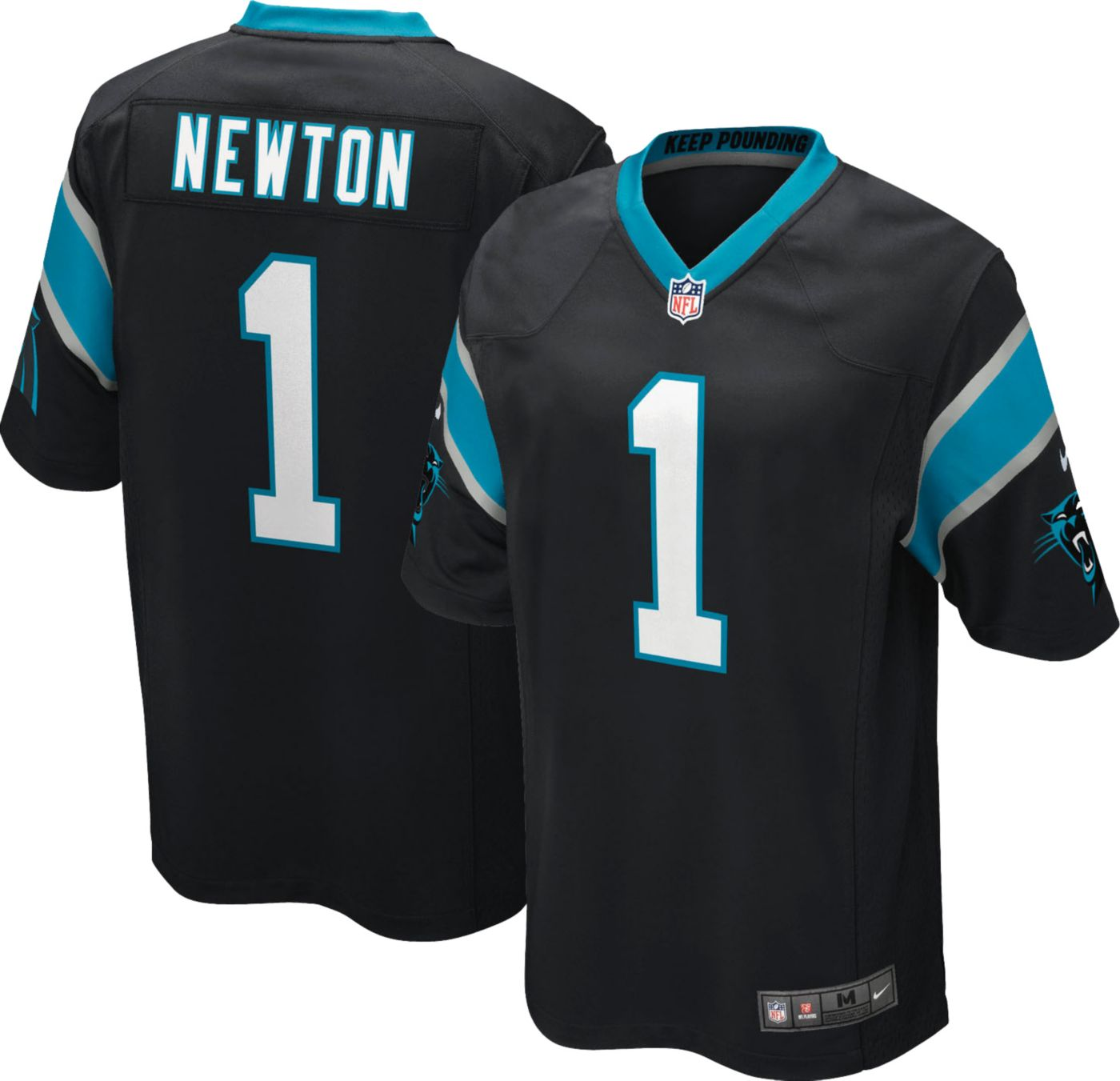 Nike Boys' Home Game Jersey Carolina Panthers Cam Newton #1