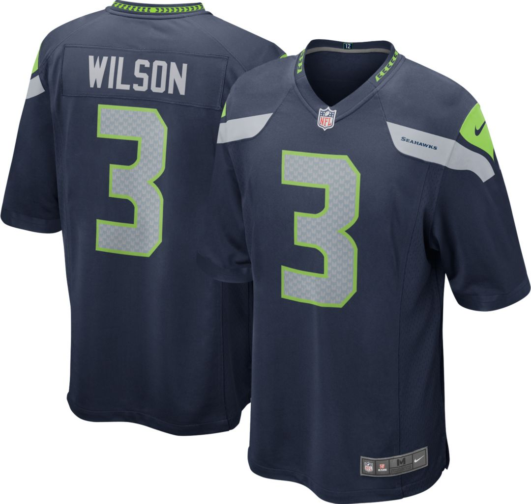 7e95a686cef Nike Boys' Seattle Seahawks Russell Wilson #3 Home Game Jersey ...