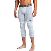 Nike Men's Pro HyperCool Three Quarter Length Printed Basketball Tights