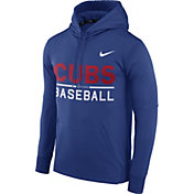 Nike Men's Chicago Cubs Dri-FIT Royal Therma Pullover Hoodie