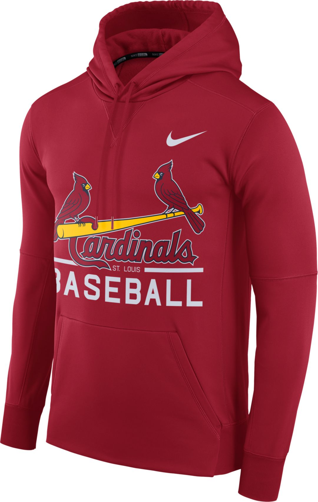 official photos 7f3cc cad5c Nike Men's St. Louis Cardinals Dri-FIT Red Therma Pullover Hoodie