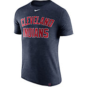 Nike Men's Cleveland Indians Dri-Blend Navy DNA T-Shirt