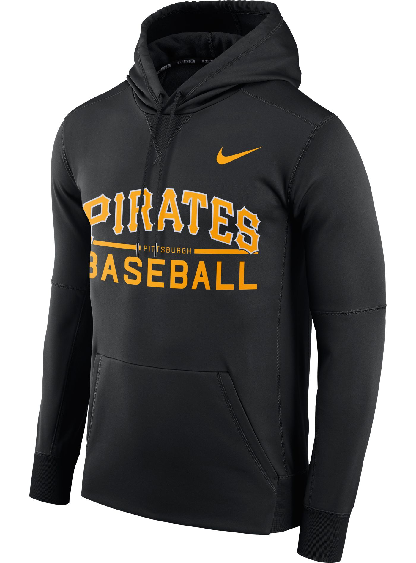Nike Men's Pittsburgh Pirates Dri-FIT Black Therma Pullover Hoodie