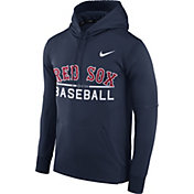 Nike Men's Boston Red Sox Dri-FIT Navy Therma Pullover Hoodie