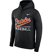 Nike Men's Baltimore Orioles Dri-FIT Black Therma Pullover Hoodie