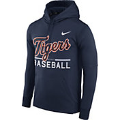 Nike Men's Detroit Tigers Dri-FIT Navy Therma Pullover Hoodie