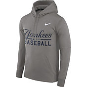 Nike Men's New York Yankees Dri-FIT Grey Therma Pullover Hoodie