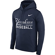 Nike Men's New York Yankees Dri-FIT Navy Therma Pullover Hoodie
