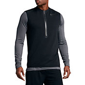 Nike Men's Dry Hybrid Hyper Fleece Quarter Zip Vest