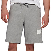 Nike Men's Sportswear Club Fleece Sweatshorts in Dk Grey Heather/White