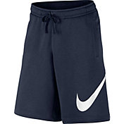 Nike Men's Sportswear Club Fleece Sweatshorts in Obsidian/White