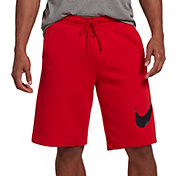 Nike Men's Sportswear Club Fleece Sweatshorts in University Red/Black