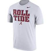 Nike Men's Alabama Crimson Tide 'Roll Tide' Authentic Local Legend White T-Shirt
