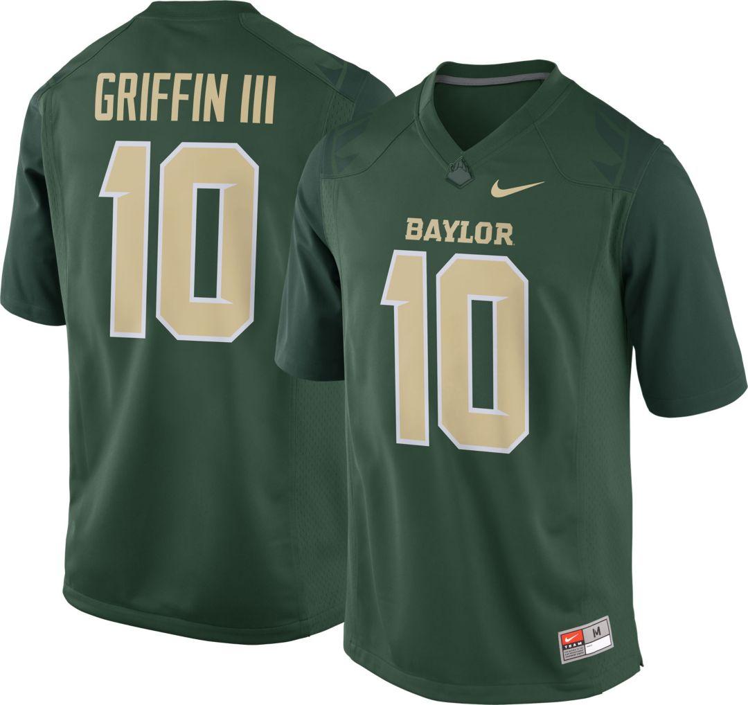 meet 44c77 bebf4 Nike Men's Robert Griffin III Baylor Bears #10 Green Replica College Alumni  Jersey