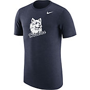 Nike Men's UConn Huskies Heathered Blue Vault Tri-Blend T-Shirt